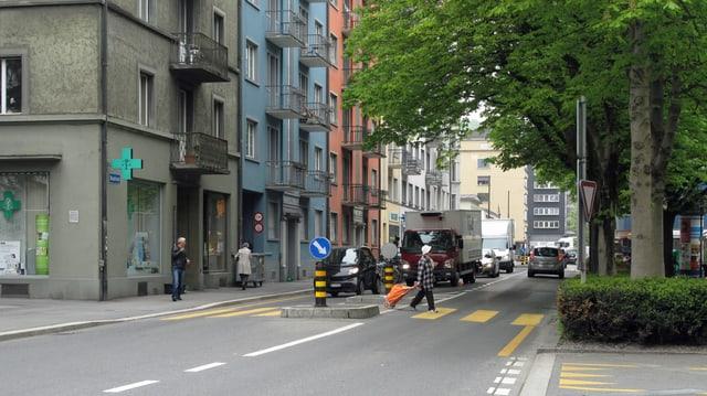 Strasse in Luzern.