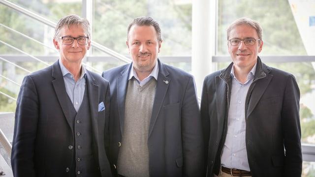 Il nov cussegl d'administraziun: Da san: Fredi Gmür, Claudio Dietrich und Kurt Bobst.