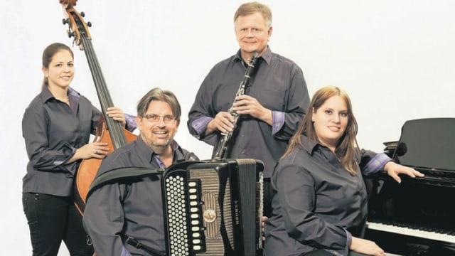Gruppenbild vom CIGAR-Quartett.