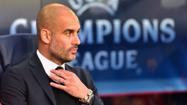 Purtret da Pep Guardiola, trenader dal FC Bayern München.