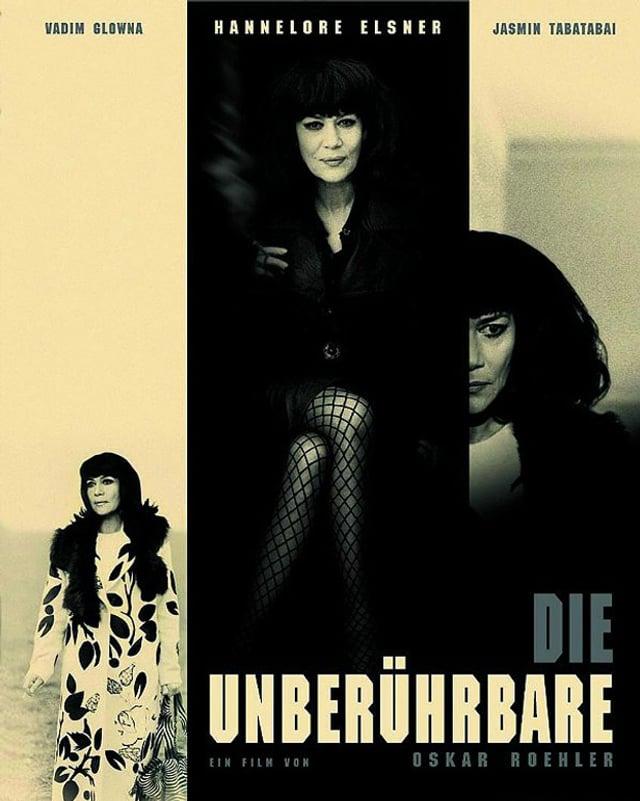 Poster zum Film «Die Unberührbare» aus dem Jahr 2000, auf dem Hannelore Elsner, die Gisela Elsner spielt, mit Kleopatra-Perücke zu sehen ist.