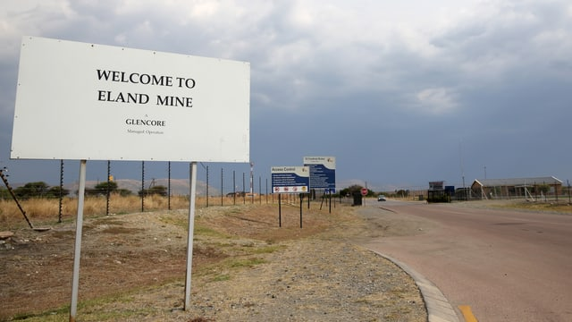 Schild Glencore-Mine