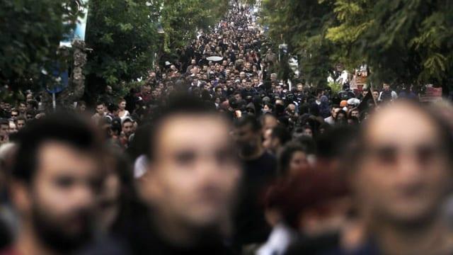 Im Bild: Antifaschistische Demo an Rapper Fyssas, 2014 in Athen.