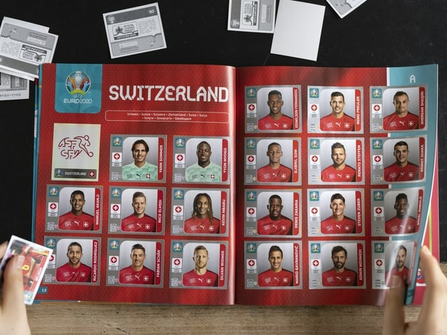 Panini Album aus der aktuellen Europameisterschaft