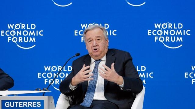 Antonio Guterres, il secretari general da l'ONU.