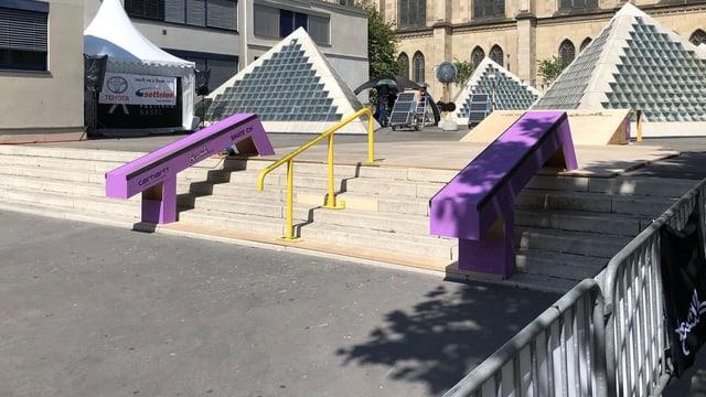 Blick auf den Pyramidenplatz