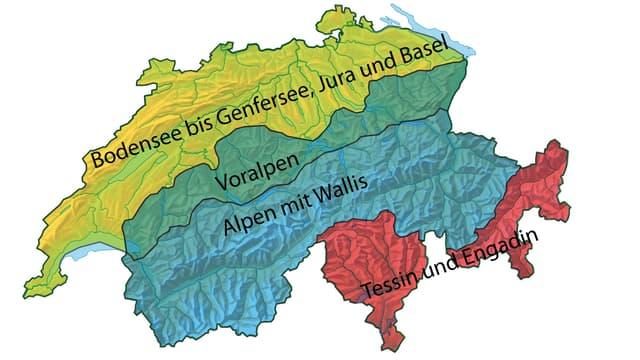 Ein Schweizer Karte.