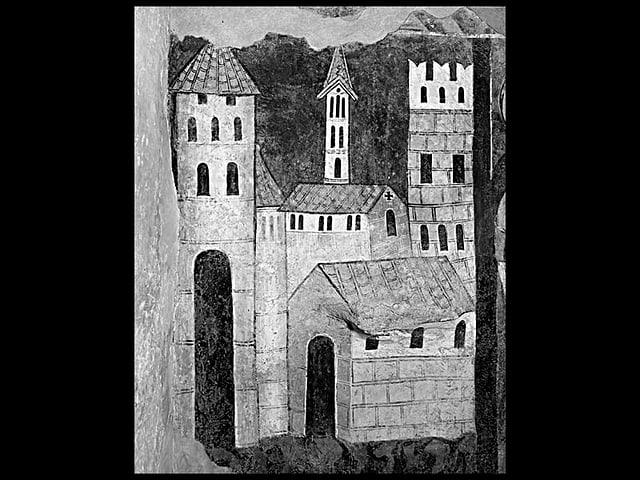 Jerusalem, Wandmalerei um 1330.