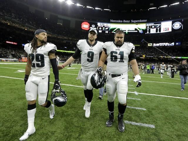 Quarterback Nick Foles und seine Mitspieler der Philadelphia Eagles.