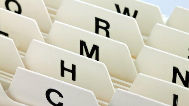 Alphabetisches Register