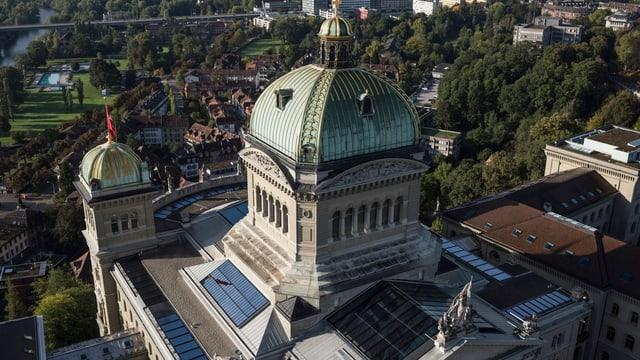 Das Bundeshaus von oben