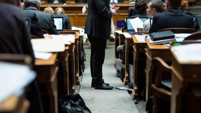 Räte im Nationalratssaal.