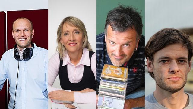 Vier SRF-Fachredaktoren nebeneinander (Bildcollage).