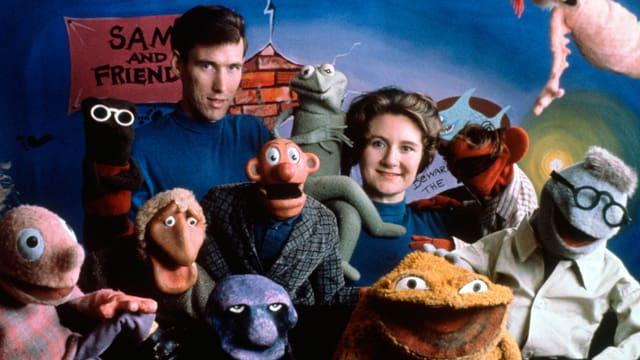 Jim Henson und Jane Henson 1960 und ihre «Familie».
