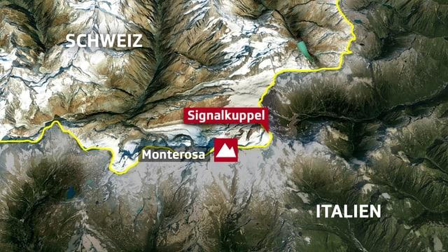 Karte von Monte Rosa