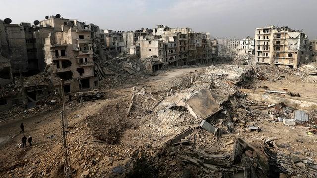 Zerstörte Gebäude in Aleppo.