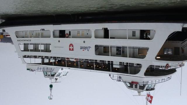 Viele Pendler, die mit der Bodenseefähre zur Arbeit fahren, schätzen die stressfreie Überahrt gerade bei Schnee und Kälte.