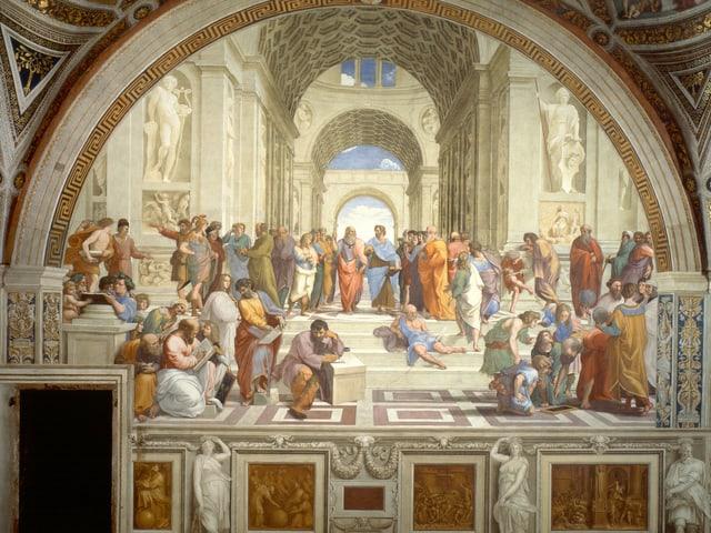 Raffaels Gemälde «Schule von Athen» mit allen berühmten Philosophen der Antike