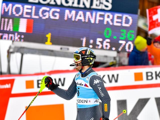Manfred Mölgg ballt im Ziel die Faust.