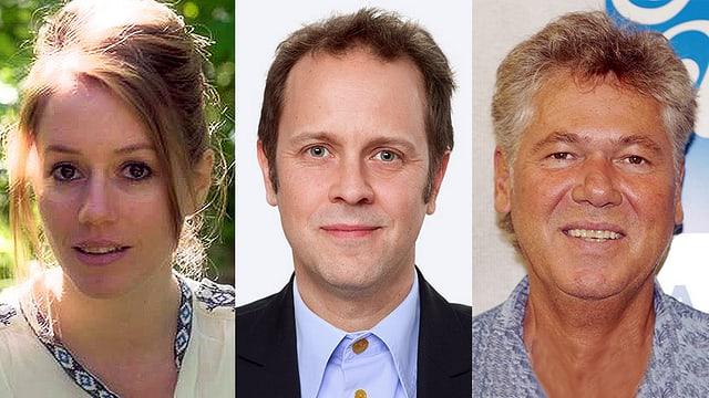 Standen Rede und Antwort: Sophie Gut, Michael Schuler und Jürg Moser