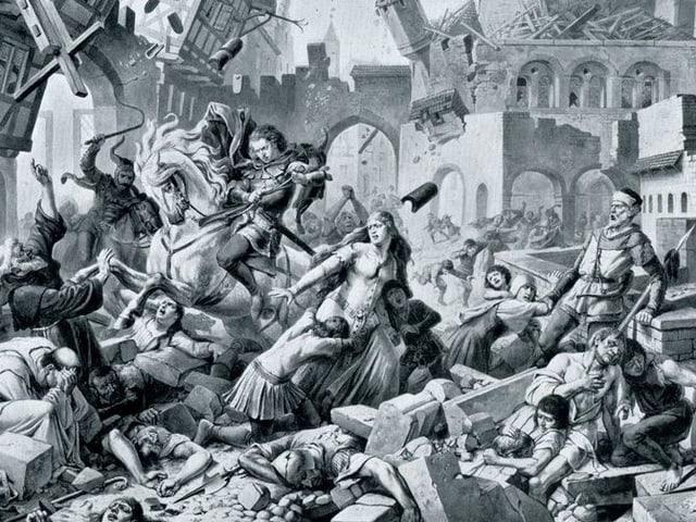 Das Erdbeben von Basel, Karl Jauslin 1904