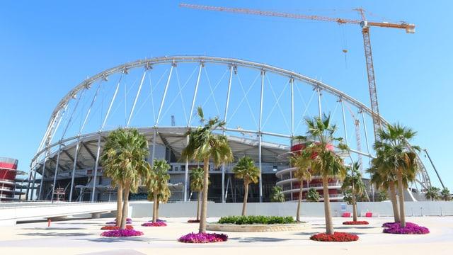 Die Baustelle des Khalifa International Stadium in Doha.