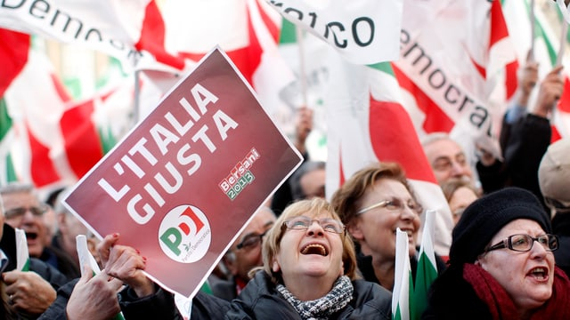 Wahlkampfveranstaltung der Sozialdemokraten von Pier Luigi Bersani