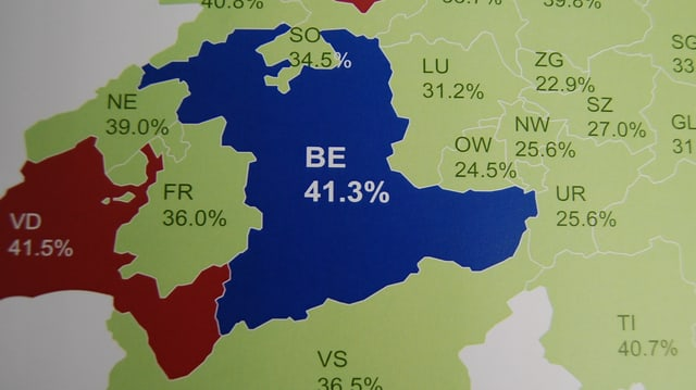 Der Steuerkanton Bern in der Schweizer Karte.