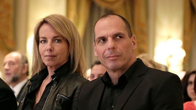 Varoufakis und seine Frau an einer Veranstaltung.