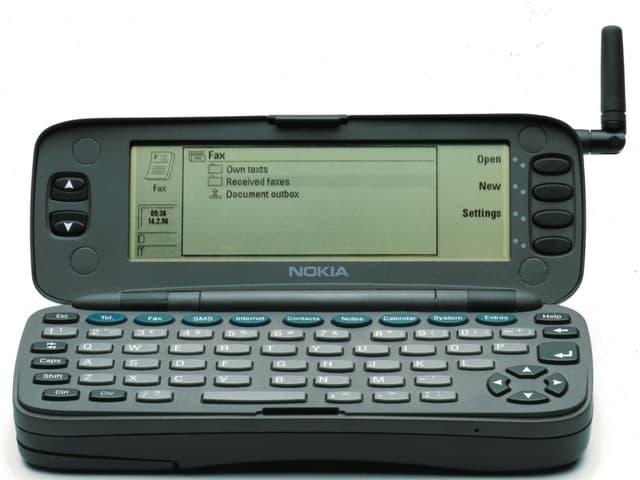 """Nokia 9000 Communicator"" geöffnet"