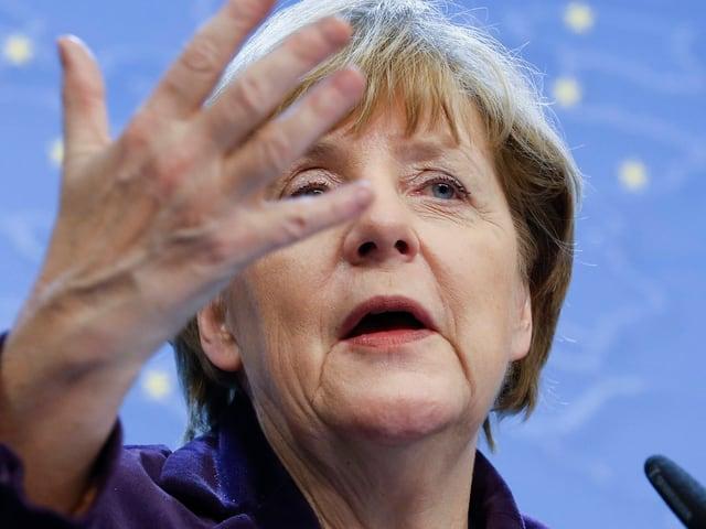 Nahaufnahme Angela Merkel