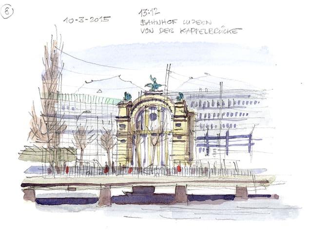 Bahnhof Luzern.