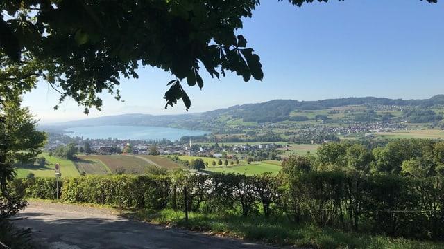 Blick in ein Tal mit See