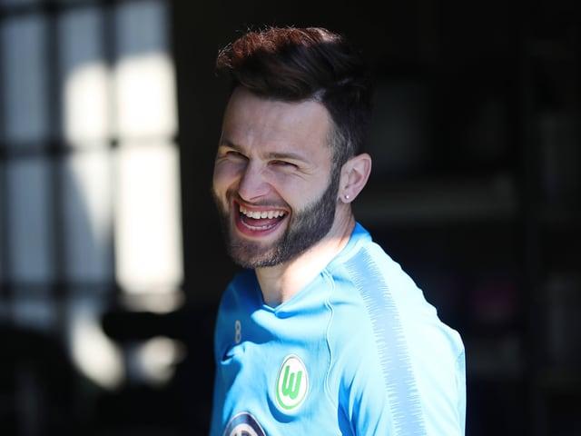 Renato Steffen lachend im Trainingslager.