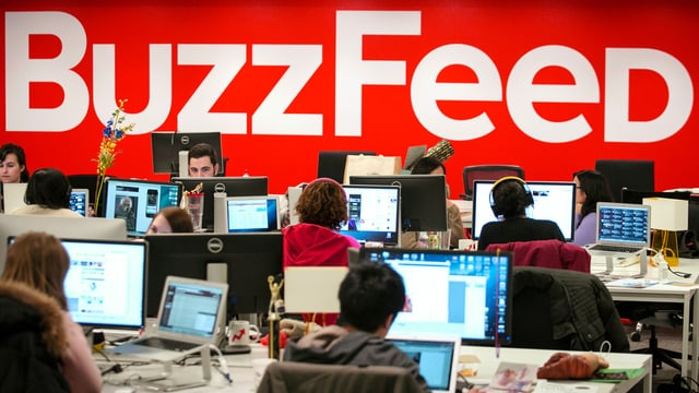 Blick in die Redaktion von BuzzFeed in New York.