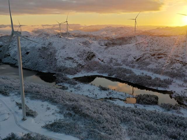 Der Windpark im norwegischen Måkaknuten