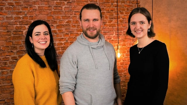 Romina Monferrini, Simon Brechbühler e Jana Hitz - il team da moderaziun da URBN.K.
