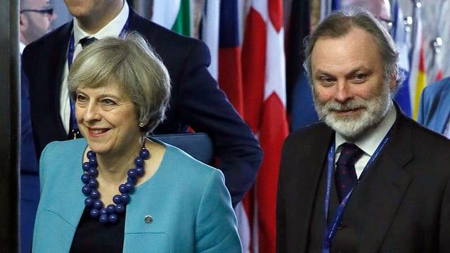 Theresa May und Tim Barrow.