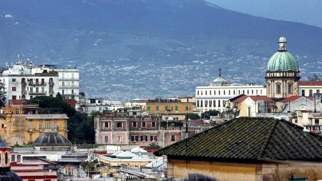 Sicht über Neapel.