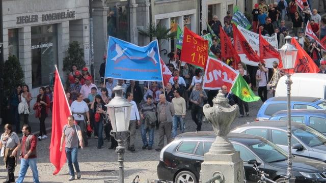 Auch in Solothurn gingen Gewerkschaften auf die Strasse.