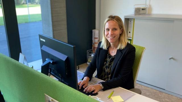 Kirsten Meyer im SCK-Büro