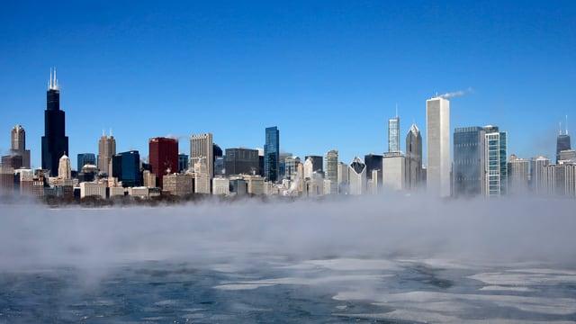 Purtret da la skyline da Chicago.