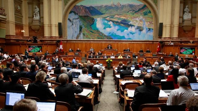 Der Nationalrat während einer Session.