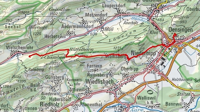 Etappe 5: Bechburg – Welschenrohr