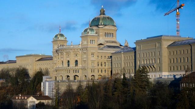 Blick auf das Bundeshaus.