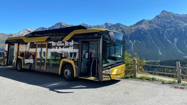 Il bus electric en la regiun da Lai.