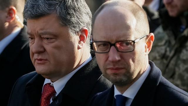 Viktor Poroschenko (links) und Arseni Jazenjuk.