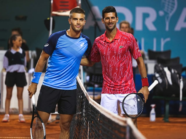 Borna Coric, vor dem Duell mit Novak Djokovic im Zuge der Adria-Tour im kroatischen Zadar.