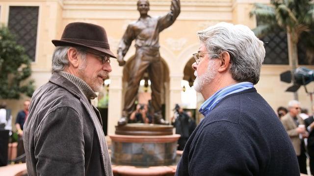 Steven Spielberg und George Lucas im Gepräch.