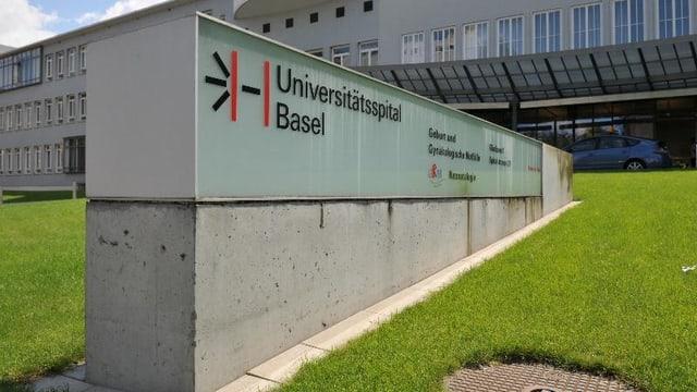 Eingangsschild Universitätsspital